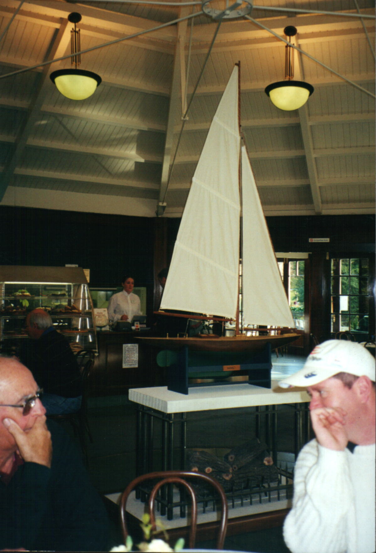 The Club's 102nd anniversary was celebrated witha luncheon, the boat in the background is